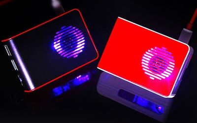 Raspberry Pi 4 Led'li Fanlı Kutu Kırmızı-Beyaz