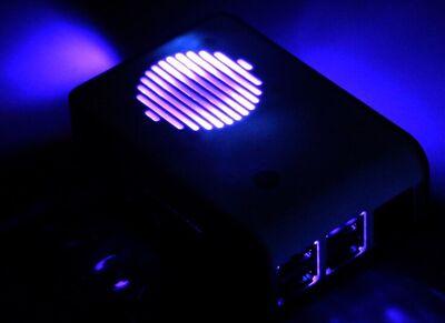 Raspberry Pi 4 Led'li Fanlı Kutu Siyah