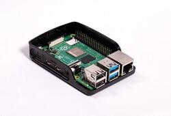 Raspberry Pi 4 Lisanslı Kutu Siyah - Thumbnail