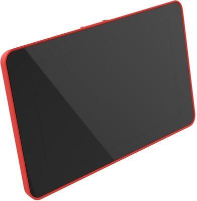 Raspberry Pi 4 Uyumlu Dokunmatik Ekran Kasası - Kırmızı
