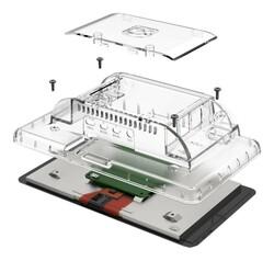 Raspberry Pi 4 Uyumlu Dokunmatik Ekran Kasası - Şeffaf - Thumbnail