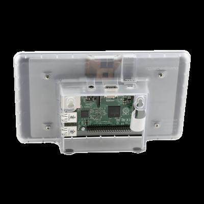 Raspberry Pi 7 Inch Dokunmatik Ekran Kutusu Şeffaf