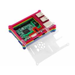 Raspberry Pi B+/2/3 Gökkuşağı Kutusu Tip B (Kalın) - Thumbnail