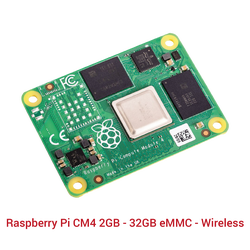 Raspberry Pi CM4 2GB - 32GB eMMC - Wireless - Thumbnail
