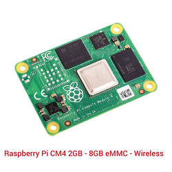 Raspberry Pi CM4 2GB - 8GB eMMC - Wireless - Thumbnail
