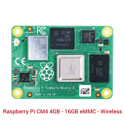 Raspberry Pi CM4 4GB - 16GB eMMC - Wireless