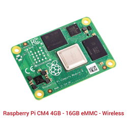 Raspberry Pi CM4 4GB - 16GB eMMC - Wireless - Thumbnail