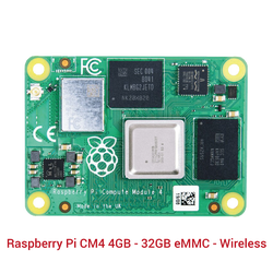 Raspberry Pi - Raspberry Pi CM4 4GB - 32GB eMMC - Wireless
