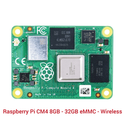 Raspberry Pi - Raspberry Pi CM4 8GB - 32GB eMMC - Wireless