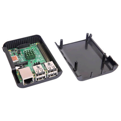 Raspberry Pi Curved Jet Black Case