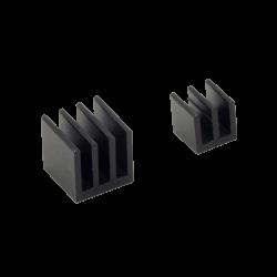 ModMyPi - مبرد ألمنيوم قطعتين لراسبيري باي - أسود