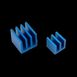 ModMyPi - مبرد ألمنيوم قطعتين لراسبيري باي - أزرق