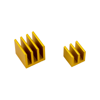 Raspberry Pi Heat Sinks . Gold