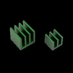 ModMyPi - مبرد ألمنيوم قطعتين لراسبيري باي - أخضر
