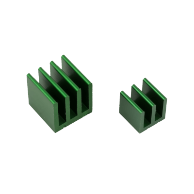 Raspberry Pi Heat Sinks . Green