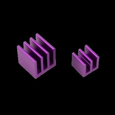 Raspberry Pi Heat Sinks . Purple