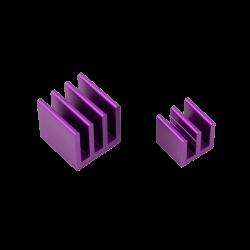 ModMyPi - مبرد ألمنيوم قطعتين لراسبيري باي - بنفسجي