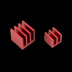 ModMyPi - مبرد ألمنيوم قطعتين لراسبيري باي - أحمر