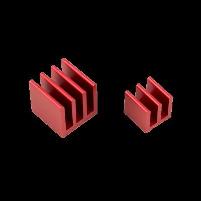مبرد ألمنيوم قطعتين لراسبيري باي - أحمر