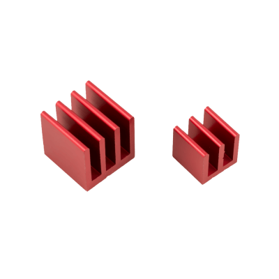 Raspberry Pi Heat Sinks . Red