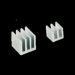 ModMyPi - مبرد ألمنيوم قطعتين لراسبيري باي - فضي