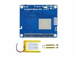 Raspberry Pi Li-polimer Pil HAT, 5V Çıkış, Hızlı Şarj ( Pilsiz ) - Thumbnail