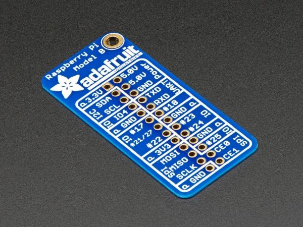 Adafruit - Raspberry Pi Model B için Adafruit GPIO Referans Kartı
