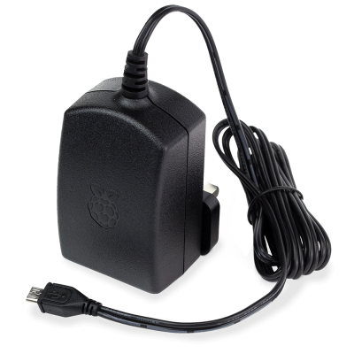 Raspberry Pi Official Power Adapter - 5.1V 2.5A (Black)