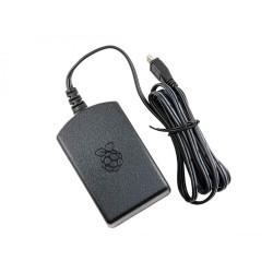 Raspberry Pi Official Power Adapter - 5.1V 2.5A (Black) - Thumbnail
