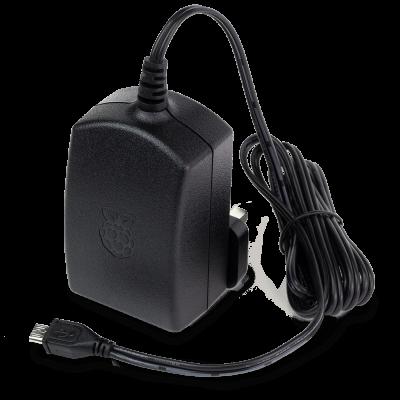 محول كهرباء راسبيري باي الرسمي لون اسود - 5.1V 2.5A