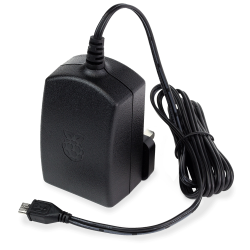 Raspberry Pi Official Power Adapter - 5.1V 2.5A (Black) - Thumbnail