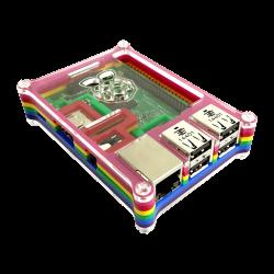 Waveshare - علبة حماية - كفر راسبيري باي Rainbow - سميكة