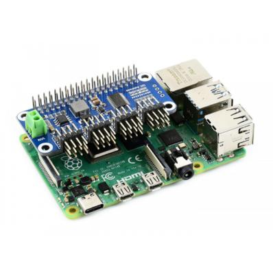 Raspberry Pi Servo Motor Sürücü HAT (B), 16 Kanall, 12-bit, I2C