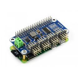 Raspberry Pi Servo Motor Sürücü HAT (B), 16 Kanall, 12-bit, I2C - Thumbnail