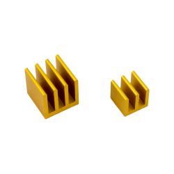 ModMyPi - مبرد ألمنيوم قطعتين لراسبيري باي - ذهبي