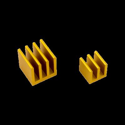 مبرد ألمنيوم قطعتين لراسبيري باي - ذهبي
