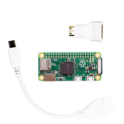 Raspberry Pi - راسبيري باي زيرو مع تحويلة شاشة و USB