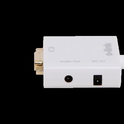 S-link SL-MHVS15 وصلة تحويل من Mini-HDMI إلى VGA مع مخرج صوت