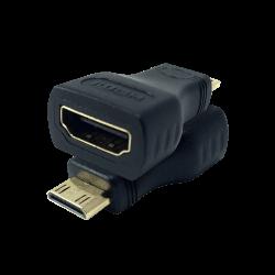 S-Link SLX-685 وصلة تحويل HDMI إلى Mini-HDMI الذهبية - Thumbnail