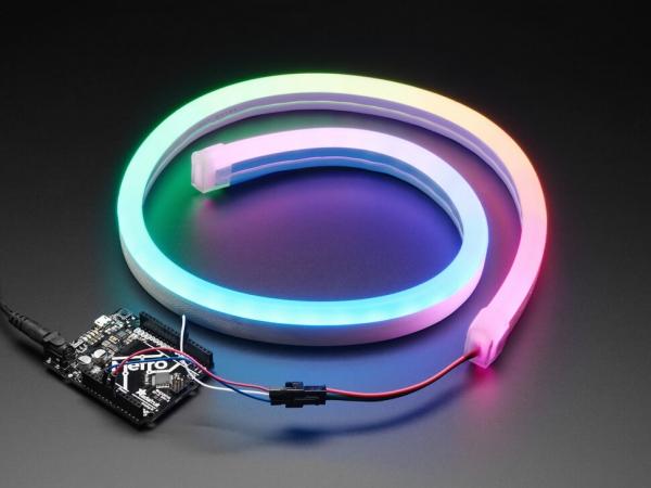 Adafruit - Silikon Tüplü NeoPixel RGB Neon Benzeri LED Flex Şerit - 1m