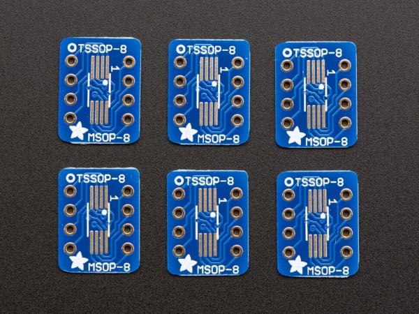 Adafruit - SOIC-8, MSOP-8 veya TSSOP-8 için SMT Breakout PCB - 6 Pack