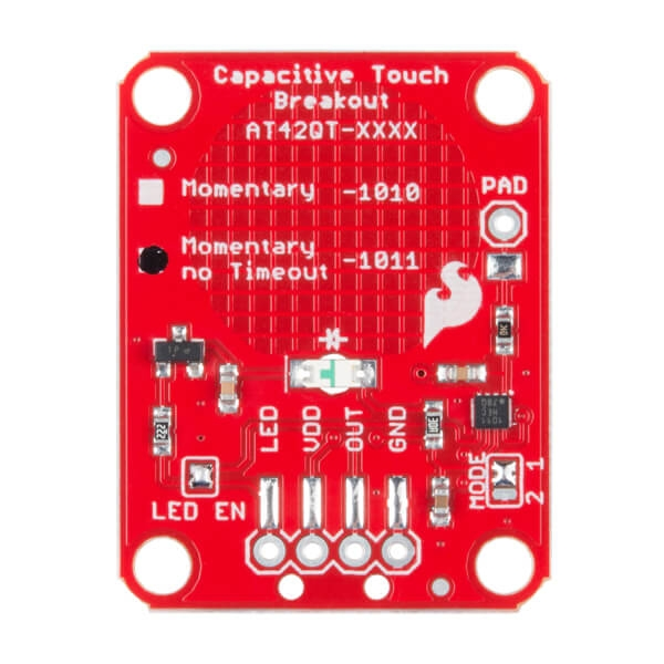 SparkFun Capacitive Touch Breakout - AT42QT1011 - Thumbnail