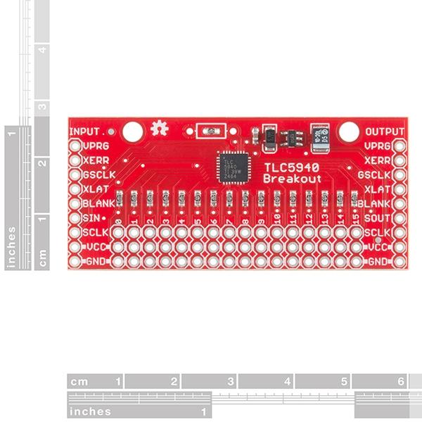 SparkFun LED Driver Breakout - TLC5940 (16 Channel) - Thumbnail