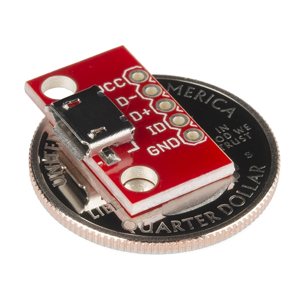SparkFun microB USB Breakout - Thumbnail