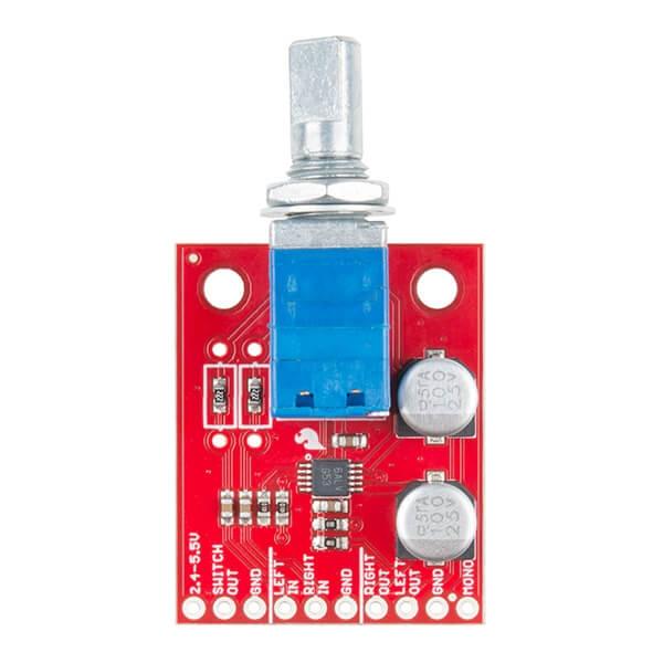 SparkFun Noisy Cricket Stereo Amplifier - 1.5W - Thumbnail