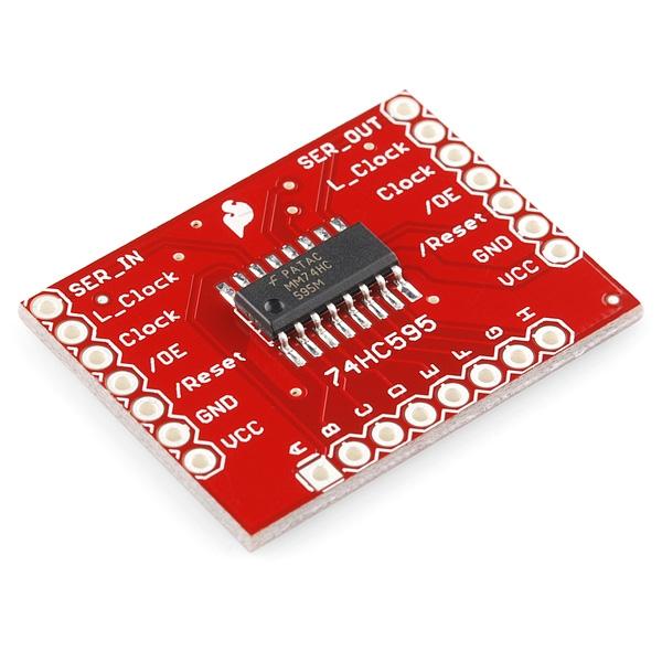 Sparkfun - SparkFun Shift Register Breakout - 74HC595