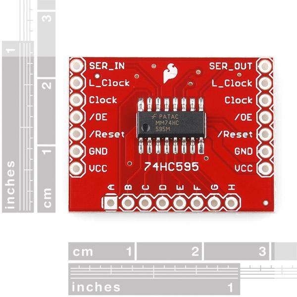 SparkFun Shift Register Breakout - 74HC595 - Thumbnail