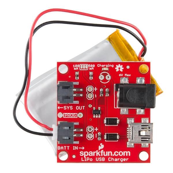 SparkFun USB LiPoly Charger - Single Cell - Thumbnail