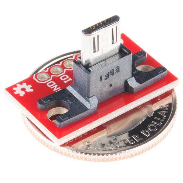 SparkFun USB MicroB Plug Breakout - Thumbnail