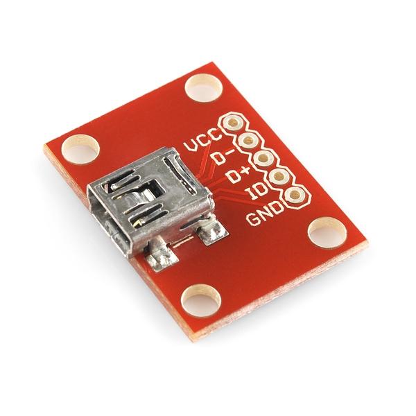 Sparkfun - SparkFun USB Mini-B Breakout